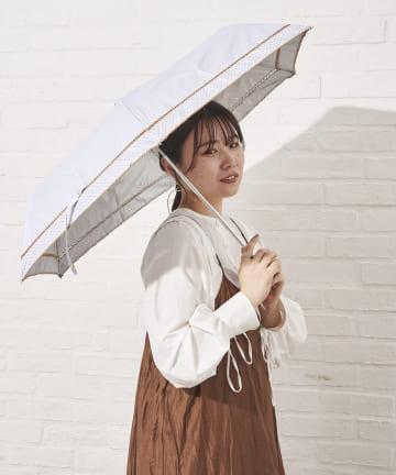 salut!(サリュ) 日傘折りピコレース切継(アイボリー)