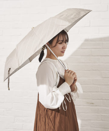 salut!(サリュ) 日傘折りラインバイアス(ベージュ)