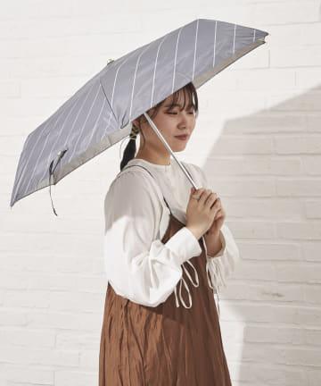salut!(サリュ) 日傘折りラインバイアス(ブラック)