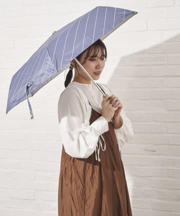 salut!(サリュ) 日傘折りラインバイアス(ネイビー)