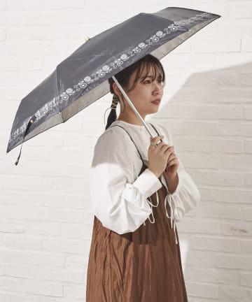 salut!(サリュ) 日傘折り鳥と花(ブラック)