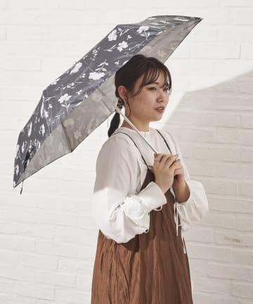 salut!(サリュ) 日傘折りフラワー(ブラック)