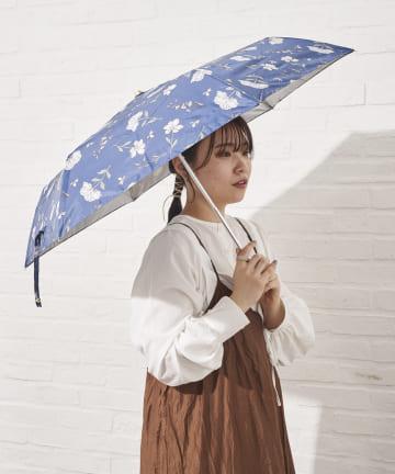salut!(サリュ) 日傘折りフラワー(ネイビー)