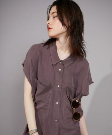 CIAOPANIC(チャオパニック) 加工スリーブレスシャツ