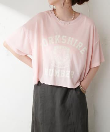 Discoat(ディスコート) カレッジロゴショートTシャツ