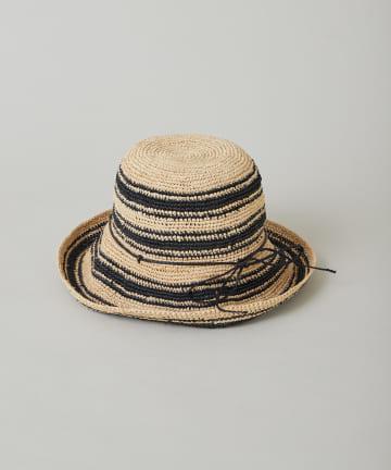 CIAOPANIC(チャオパニック) ラフィアカギ編み帽子