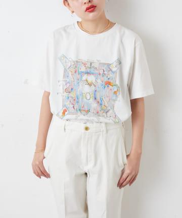 ear PAPILLONNER(イア パピヨネ) 【SWASH(スウォッシュ)×ear】 アニマル柄Tシャツ