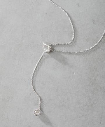 ear PAPILLONNER(イア パピヨネ) (WEB限定)クリスタルループネックレス