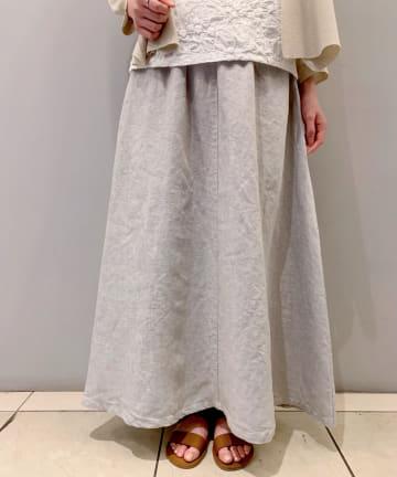 BEARDSLEY(ビアズリー) リネンウエストリブスカート