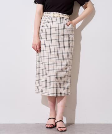 natural couture(ナチュラルクチュール) ウエストタックデザインナロースカート