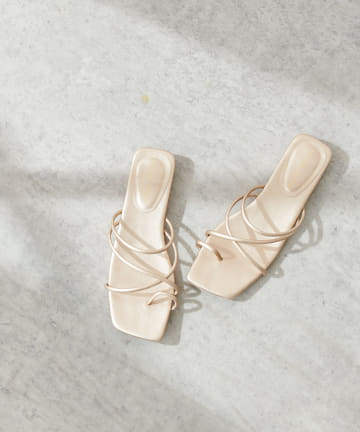 natural couture(ナチュラルクチュール) NEW細ヒモヌーディ―サンダル