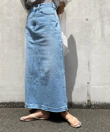 DOUDOU(ドゥドゥ) リメイクデニムスカート