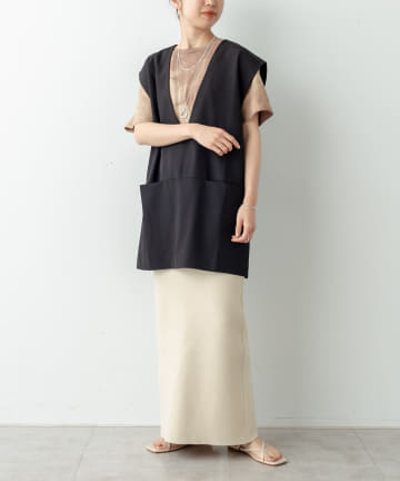 Omekashi(オメカシ) 強撚スウェットライクタイトスカート
