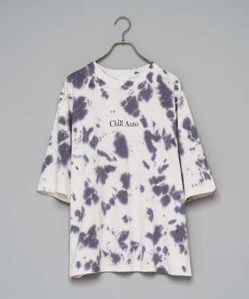 CIAOPANIC(チャオパニック) タイダイ柄ビッグシルエットロゴプリント半袖Tシャツ