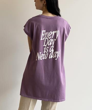 Loungedress(ラウンジドレス) 【+81BRANCA/ハチイチブランカ】New Days ノースリーブTシャツ