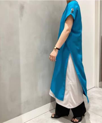 Pal collection(パルコレクション) 【新色】《オトナが着こなすロングワンピ》サイドスリットワンピース