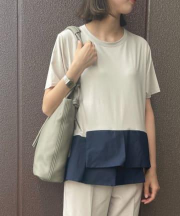 Pal collection(パルコレクション) 《なめらかな肌触りがヤミツキ》裾デザインTシャツ