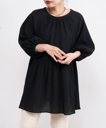 natural couture(ナチュラルクチュール) ほんのりシャーリングティアードチュニック