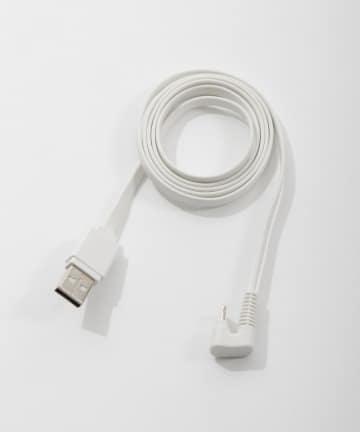 3COINS(スリーコインズ) 【丈夫でしなやか】U字ライトニング用+マイクロUSB用ケーブル