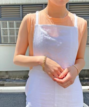 Omekashi(オメカシ) スリーブレスTシャツ