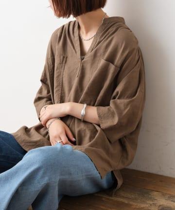 CIAOPANIC TYPY(チャオパニックティピー) 【OSORO】リネンレーヨンスキッパーシャツ