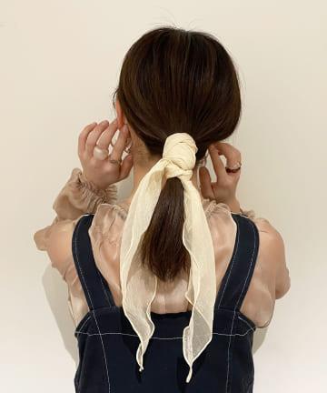 Lattice(ラティス) シアー三角スカーフ