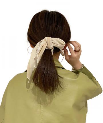 Lattice(ラティス) ゼブラ柄三角スカーフ