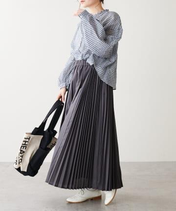 pual ce cin(ピュアルセシン) ランダムプリーツスカート