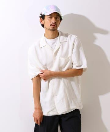 OUTLET(アウトレット) 【CIAOPANIC TYPY】麻レーヨンオープンカラーシャツ