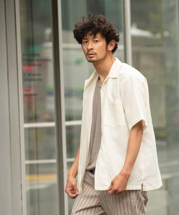 OUTLET(アウトレット) 【CIAOPANIC TYPY】パナマ織りオープンカラーシャツ