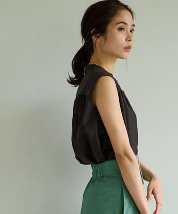 La boutique BonBon(ラブティックボンボン) 《予約》コットンシルクローンチュニックシャツ