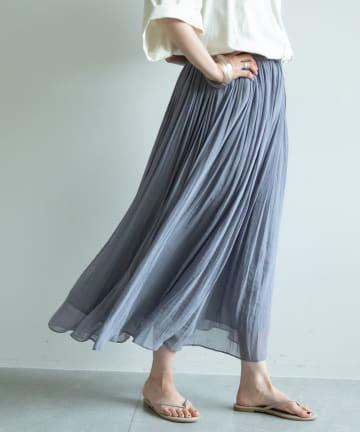 GALLARDAGALANTE(ガリャルダガランテ) エアリープリーツスカート