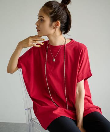 La boutique BonBon(ラブティックボンボン) 《予約》バックスリットオーバーサイズビッグTシャツ