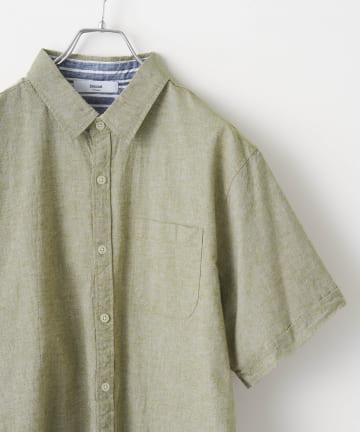 Discoat(ディスコート) 綿麻ストレッチレギュラーシャツ