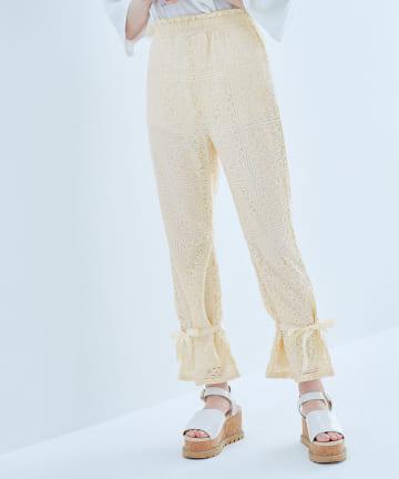 OLIVE des OLIVE(オリーブ デ オリーブ) 裾ドロストレースパンツ