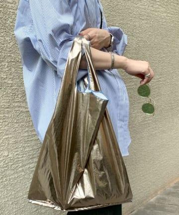 SHENERY(シーナリー) メタリックマーケットバッグ