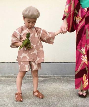 CIAOPANIC TYPY(チャオパニックティピー) 【KIDS】ドット柄ラクラク甚平