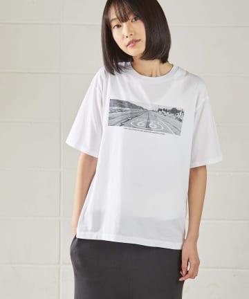 OUVRAGE CLASSE(ウヴラージュクラス) 【TICCA/ティッカ】ROAD転写プリントTシャツ