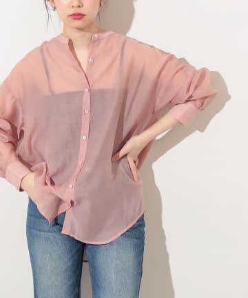 natural couture(ナチュラルクチュール) スクエア釦シアーシャツ