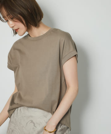 un dix cors(アンディコール) 【《暑い時期に大活躍》洗える】汗染み防止クルーネックフレンチTシャツ