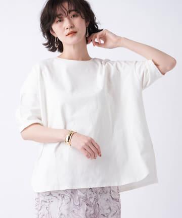 un dix cors(アンディコール) 《予約》【《色違いで揃えたくなる》洗える】汗染み防止クルーネックビックTシャツ