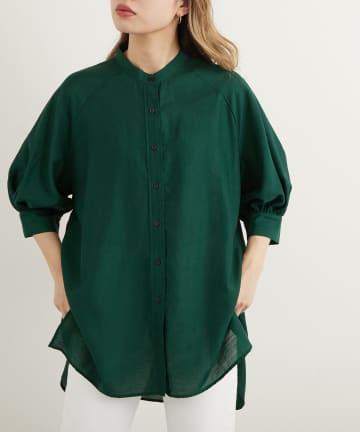 Lui's(ルイス) ギャザースリーブシャツ