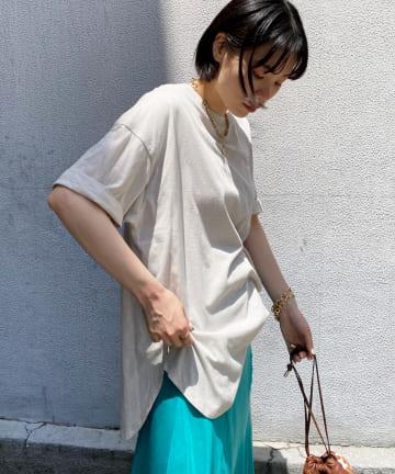 DOUDOU(ドゥドゥ) 【WEB限定】【追加カラー】5分袖ビッグT