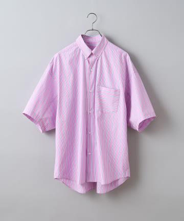 CIAOPANIC(チャオパニック) カラーストライプオーバーサイズボタンダウンシャツ