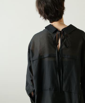 Whim Gazette(ウィム ガゼット) 【THE PAUSE】シアーオーバーシャツ