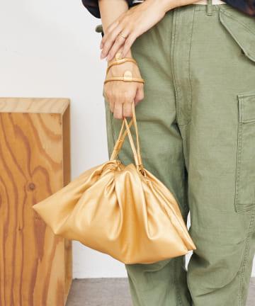 BONbazaar(ボンバザール) ヴィーガンレザー巾着バッグ