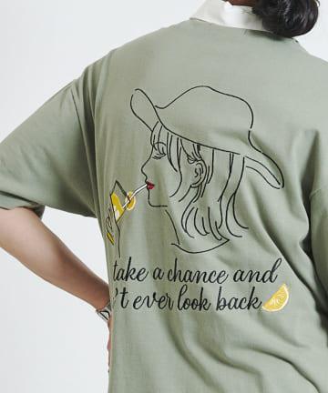 CPCM(シーピーシーエム) バック刺繍ラガーシャツ