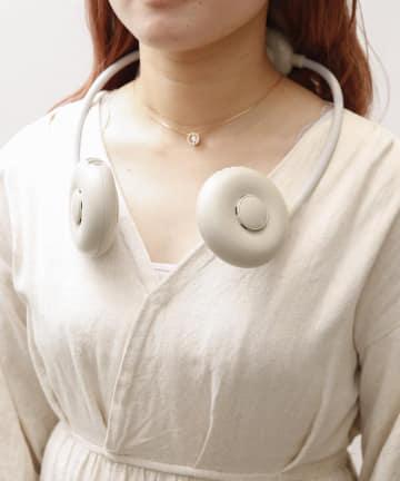 3COINS(スリーコインズ) 【熱中症対策】充電式首かけファン