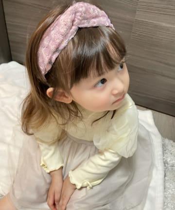 3COINS(スリーコインズ) KIDS/フラワー刺繍ターバン