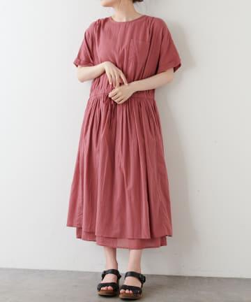 pual ce cin(ピュアルセシン) 【WEB限定】胸ポケットボイルワンピース